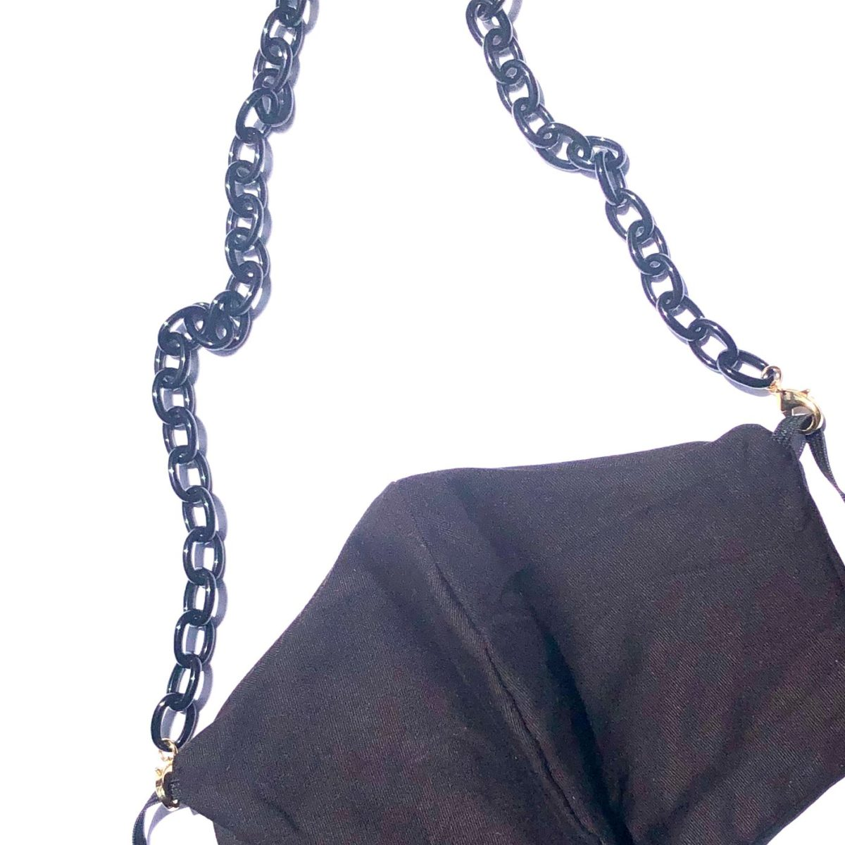 La Mask by Laloop Small Link Black Necklace Chain for Facemasks