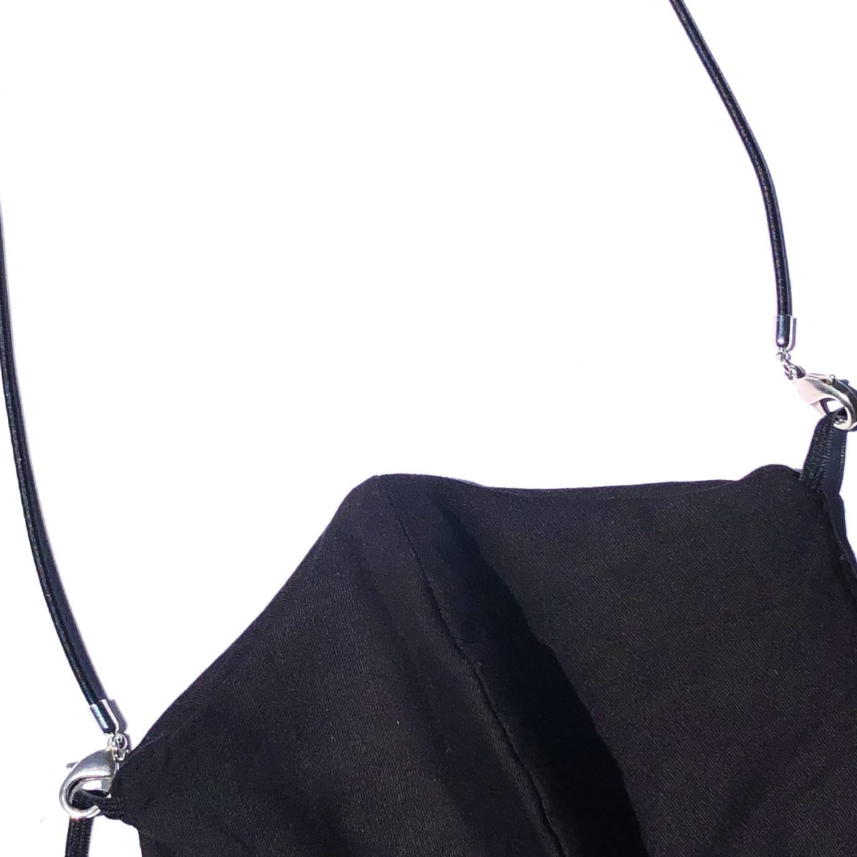 La Mask by Laloop Stretch Cord Black Necklace Chain for Facemasks