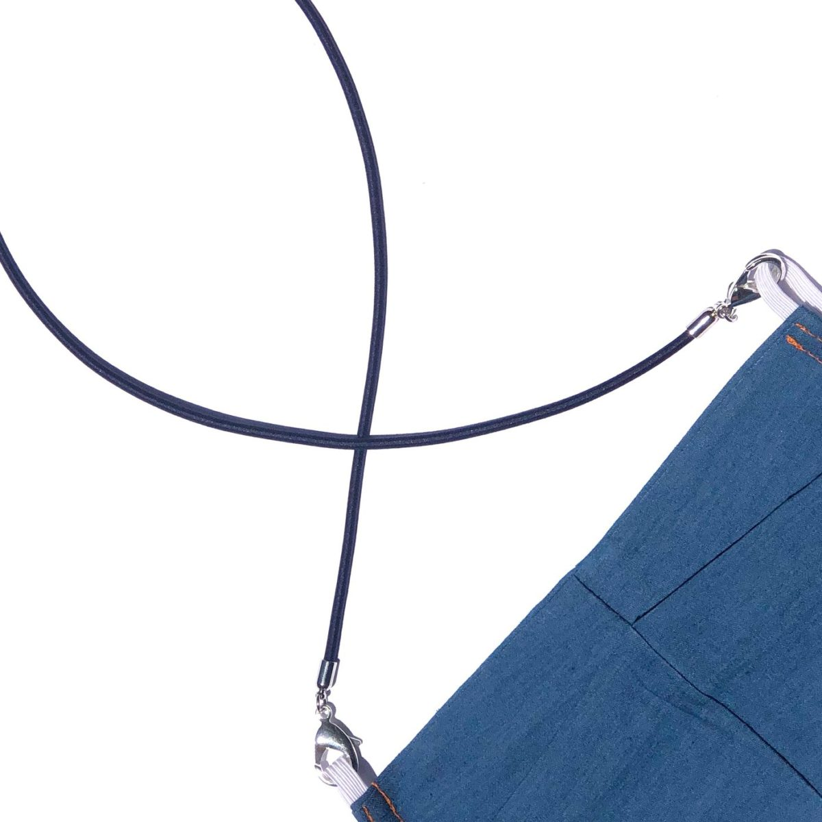 La Mask by Laloop Stretch Cord Navy Necklace Chain for Facemasks