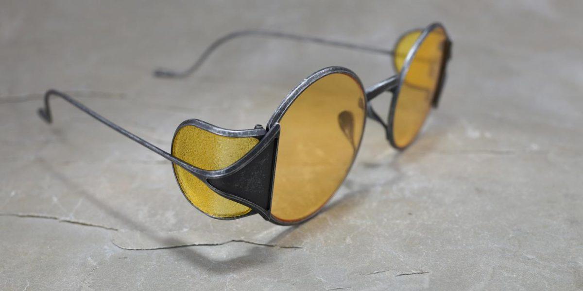 Rigards x Uma Wang RG0UW10 Vintage Black with Yellow Side Shields